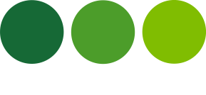 logo three green white
