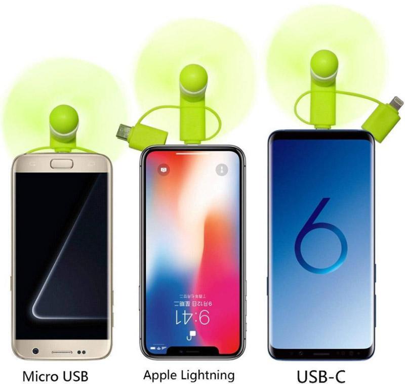 Phone Fan - 3 in 1