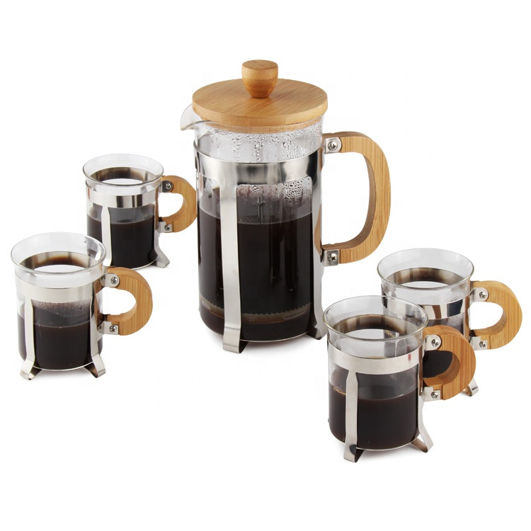 Coffee Plunger Set (Bamboo)