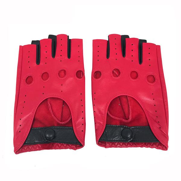 Fingerless Leather Driving Gloves