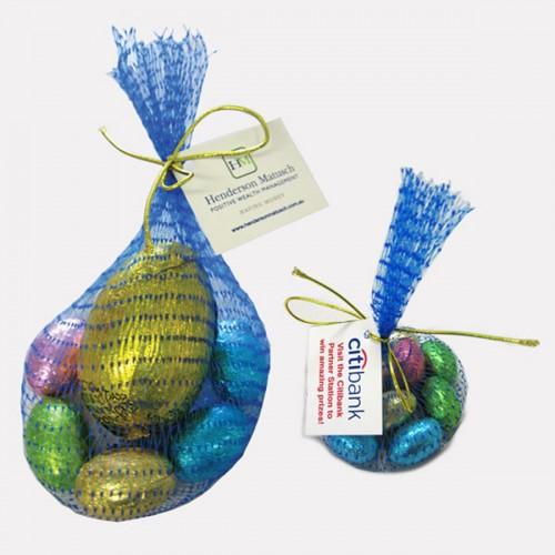 Choc - Eggs in mesh bag
