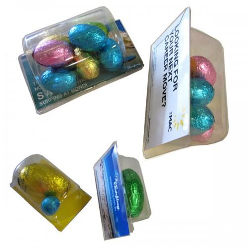 Choc - Eggs with Biz Card