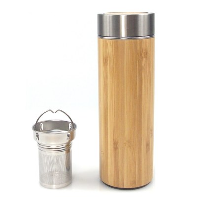 Bottle - Bamboo & SS With Tea Infuser