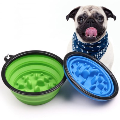 Pet - Collapsible Slow Feeder Bowl