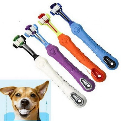Pet - Three Sided Toothbrush