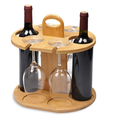 Bamboo - Wine Holder Glass Cup Rack
